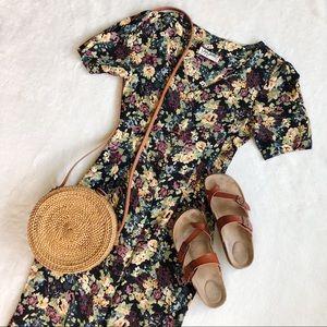 Vintage Jay Jacobs Floral Button Down Dress